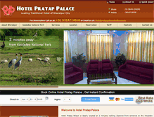 Tablet Preview of hotelpratappalace.net.in